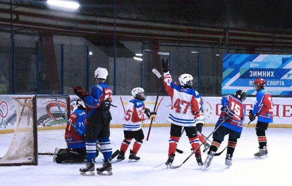 детей по хоккею с шайбой